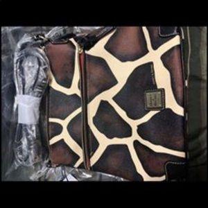 New w/tags Dooley & Burke crossbody giraffe/black
